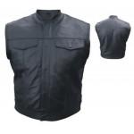 Мужской кожаный жилет с оружейным карманом Premium Buffalo