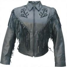Женская кожаная куртка Черная Роза