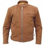 Мужская коричневая кожаная куртка со съемной подкладкой Buffalo Hide