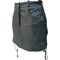 Женская прямая юбка из кожи Lambskin