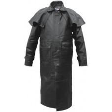 Классическое мужское кожаное пальто Duster Split Cowhide