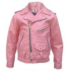Детская розовая куртка косуха