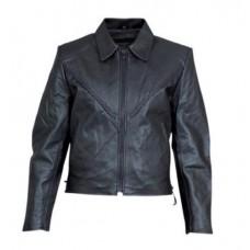 Женская кожаная куртка с плетенкой Split Cowhide