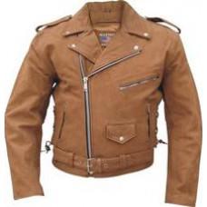 Мужская коричневая куртка косуха со съемной подкладкой Buffalo Hide